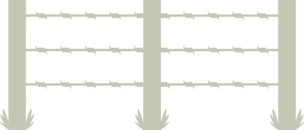Barb Wire fence 2 panels 150mm x 70mm