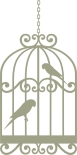 Bird Cage with birds  Birds  vintage 59mm x 119mm