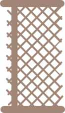 Lattice fence panel