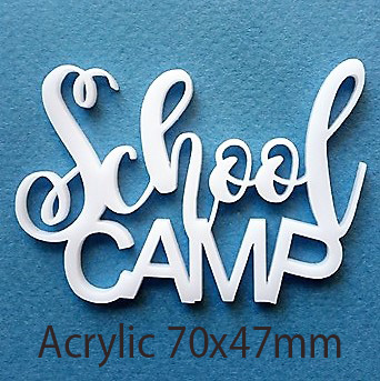 School Camp, 70 x 47 mm , Acrylic,  ,