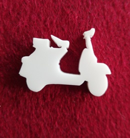 Scooter Brooch or earring size acrylics  for or