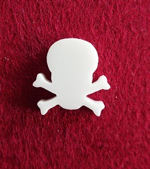 Skull Brooch or earring size acrylics  for orde