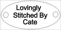 Lovingly stitched by  approx 2 inches long  MDF or ACRYLIC Pack