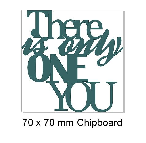 there is only one you 100x100mm  Pack of 5
