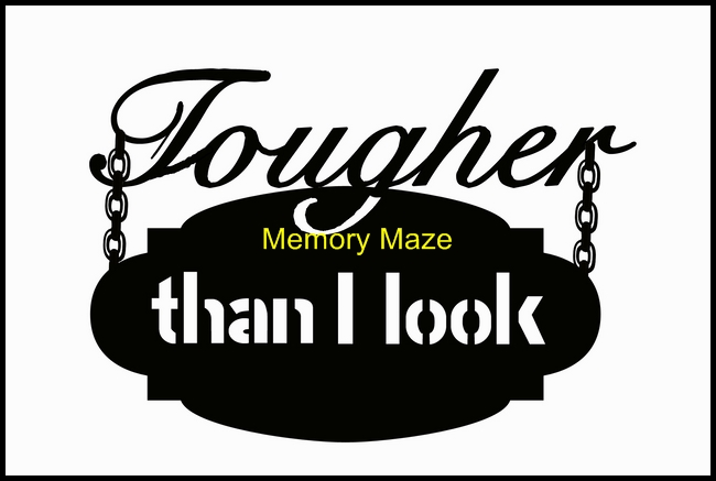tougher than I look 150 x 100  memory maze