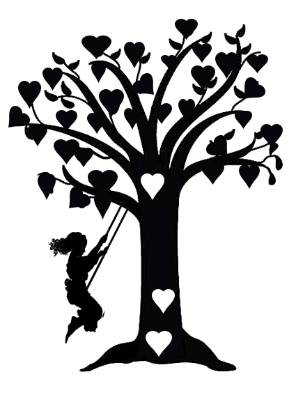 girl on swing tree  150 x 170