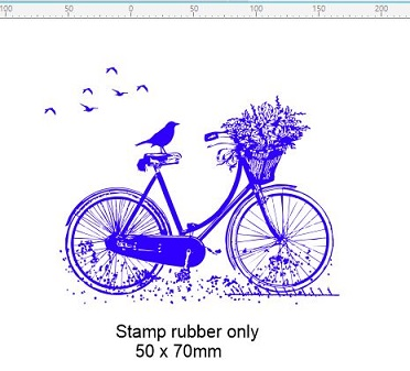Vintage bicycle  stamp 50 x 60 mm