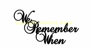 we remember when  140 x 60 mm  Memorymaze