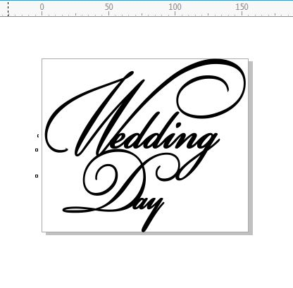 Wedding day 155 x 130 Script  .