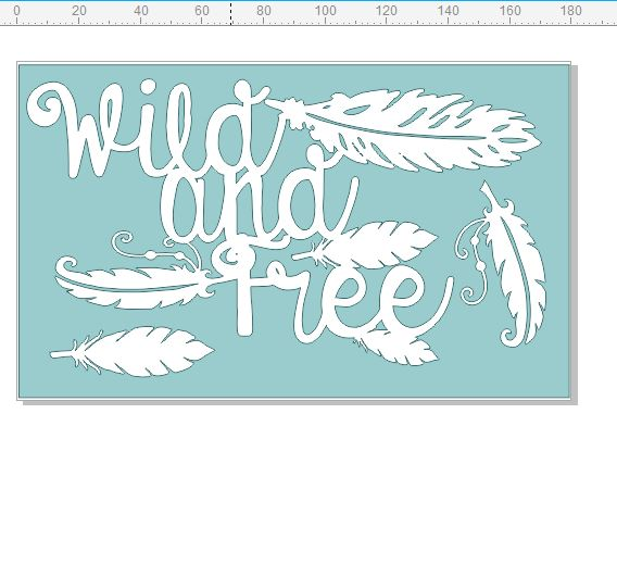 Wild and free 110 x 180mm, boho, feathers,