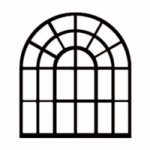 Window arched only  114x 150 mm