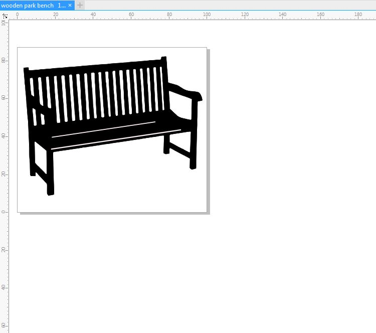 Wooden park bench  2 pack 100 x 87