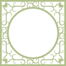Wrought Iron Frame Tramways chipboard themed overlay