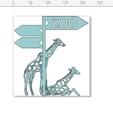Zoo  Animals Giraffe,crocodiles,snakes  220 x 230.mm